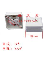 Wholesale 10A250V rectangular surface mount switch a single control switch open switch Dimensions domestic switch