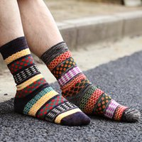 Wholesale New Fashion Men s Socks Vintage National Wind Wool Socks Autumn Winter Warm Casual Socks Hip hop Male Cotton Socks
