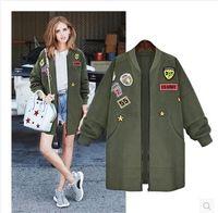 Wholesale 2016 New winter bigger sizes in the women s wear loose cardigan camouflage fleece jacket long long sleeve trench coat