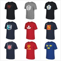 t cups - 2016 World Cup of Canada Europe Finland North America Russia Sweden US Hockey Distressed LOGOTriBlend mens short sleeve T Shirt Size S XL