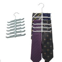 Wholesale 150pcs Fishbone Shape Hanger Layers Multifunction Necktie Tie Towels Belt Shawl Scarf Rack Space Saving ZA0772