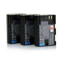 Wholesale DSTE Wh mAh LP E6 Li ion Battery For Canon EOS DS R D Mark II D Mark III D D D Da D DSLR EOS DS R Camera