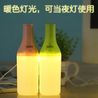 Wholesale Cool night light humidifier humidifier bottle USB Mini humidifier warm light wine bottle