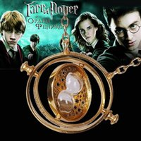 Wholesale Great Gift Best sales Harry Potter time turner necklace Hermione Granger s k Yellow plated girlfriend gift boutique necklace