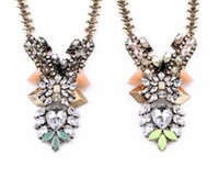 alloy trumpets - 2016 Trumpet flowers drop pendant gem sweater chain Fashion Jewelry Factory Supply Lead Nickle
