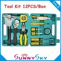 automobile hand tools - Combination Repaire Hand Toolkit BOX Car Auto Automobile Vehicle Household tools Hardware Plier Screwdriver