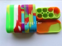Cheap 6+1 Wax Containers silicone box Silicon container Non-stick food grade wax jars dab storage jar oil holder for vaporizer pen vape