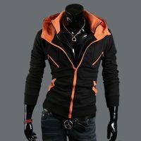 ac collars - Nice new Korean male Gypsy man coat color AC cardigan hoodies