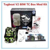 aluminum battery boxes - Tugboat V2 W TC Box Mod Kit TUGLYFE Tugboat V2 ecig mods Variable Wattage Aluminum Body Dey Herba Vaporizer mechanical for battery
