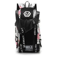Wholesale New Fashion Men Double Shoulder Bag Large Capacity Canvas Printing Bag Men Breathable Duffel Bag Men Abrasion Resistant Backpack