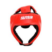 Wholesale PU Leather Helmets Boxing Muay Thai Sanda Kick MMA Taekwondo Sparring Training Head Guard Head Protection Helmet Sports Safety order lt no t
