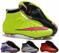 Wholesale 2016 Women Mercurial Superfly FG CR7 Shoes Soccer Boots Cleats Laser original Womens Shoes Soccer Shoes Football Shoes Eur