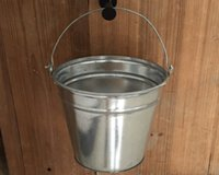 Wholesale L Large Gaint Metal Garden Buckets D10 H8 inch Silvery color Iron Pail Garden Watering Equipments