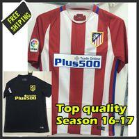 al por mayor camisas de personalización-2016 2017 La última versión de la camiseta de Atleticos Tailandia calidad de los jerseys personalizar camisetas envío gratis