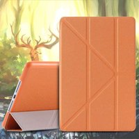 Wholesale Luxury Triple Folder Stand PU Leather Case For iPad Mini Flip Retro Cross Pattern Smart Sleep Wake Cover for Apple ipad mini