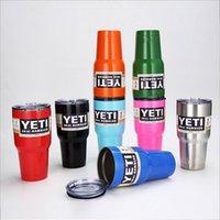 Wholesale Yeti oz cooler Rambler Tumbler Bilayer Stainless Steel Insulation Cups Cars Beer Mug Large Capacity Mug Tumblerful DHL Free