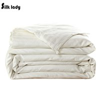 Wholesale 220x240cm kg Real Mulberry Silk Quilt Comforter Silk Filled Blanket Duvet Free Fast Shipping