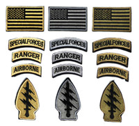 american military patches - 3 inch Patches American flag Embroidered patch with magic tape military armband Specialforce Ranger airborne badge GPS GAME patch