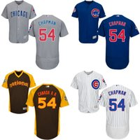 aroldis chapman - Grey white blue gold Aroldis Chapman Jersey Men s Chicago Cubs FlexBase Jersey