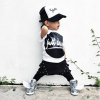 american just - New One piece Outfits Kids Baby Boy clothing set JUST DOWN print suits T shirt Tops Fashion Cotton Pants Sets Newborn baby Clothes