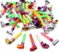 Wholesale 100 Blow Dragon Whistles For Children Gift Cheerleaders Birthday Birthday Party Long Whistling