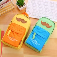 Wholesale New Korea Canvas Bearded Mini Schoolbag Key Coin Purse Cute Chlidren Girls nd Boys Pencil Bag for Student