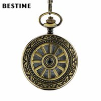 antique watch values - BESTIME Watch Arabic and Roman Numerals Antique Bronze Hollow Wheel Quartz Pocket Watch Chain Value Quality