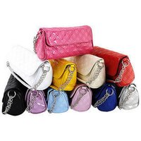 Wholesale New Women s handbag candy colored small chain shoulder bag Messenger Bag Ladies Quilted bucket bag