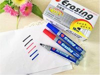 Wholesale Office Stationery authentic can be wiped whiteboard pen teaching easy to wipe the water marker black and blue