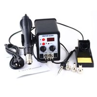 Cheap YOUYUE 8586 700W ESD Soldering Station LED Digital Solder Iron Desoldering Station BGA Rework Solder Station Hot Air Gun Welder