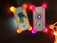 Wholesale Universal D Cartoon LED Lamp Bumper Case Minions Luminous Soft Silicone Protector for iPhone s plus Samsung Note7 ZTE Zmax Pro Coolpad