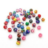 Wholesale 200pcs Assorted Colors Polymer Clay Bead mm Ball Round Fimo Diy Jewelry Components Spacer Beads Jewellery Making Materials