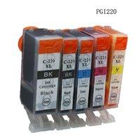 Wholesale 5Pcs SetCompatible Ink Cartridges PGI PGBK CLI BK C M Y for Canon PIXMA MP540 MP545 MP550 Full Ink Free Ship