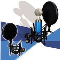 Wholesale 2015 Hot Sale Newest Microphone Mic Professional Shock Mount with Pop Shield Filter Screen R1BO