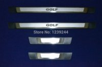 Wholesale 4pcs Door Sill Protector Scuff Plates For VW Golf MK7 VII Chromium Styling