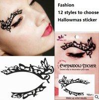 Wholesale Eye Shadow Hallowmas New Sticker Party Charming Big Eye Eyebrow Sticker Environmental Protection Black Easy to Use