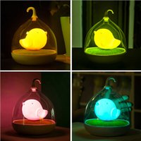 battery cages - Rechargeable Batteries LED Night Light Children s Lighting Lamp Bird Cage Sound Sensor Kid Light
