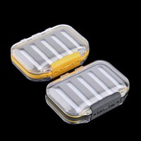 Wholesale 4 x x1 Plastic Waterproof fly fishing Double Side Clear Slit Foam fly Fishing Box FLY BOX Tackle Case Box