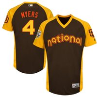 baseball practice jersey - Mens San Diego Padres Wil Myers Majestic Brown Baseball All Star Game Cool Base Batting Practice Player Jersey