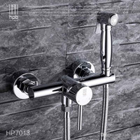 Wholesale Han Pai Brass Hot and Cold Bathroom Bidet Faucet Toilet Portable Spray With Shower Holder Handheld Bidet HP7013