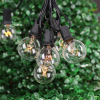 ball list - 2016 LED String Lights with G40 Globe Bulbs UL listed for Indoor Outdoor Commercial Outdoor Hanging Umbrella Garden Patio Lamp Lights