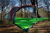 Wholesale Hot Tentsile Tree Tent Outdoor Camping Tents person Hanging Hammock D Oxford cloth PU painted FREE FEDEX