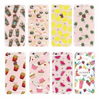 apple desserts - Blooming Flower Relief Cell Phone Covers For iPhone plus TPU Cases Fruit Dessert Protection Case aa