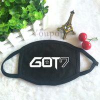 album project - Youpop KPOP I GOT7 got7 mark album jumper JB Dust Cotton Mouth muffle black Face Mask JJ Project Maschere Antipolvere Masques