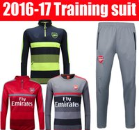 arsenal blue jersey - best thai quality Arsenal jerseys Men Training suit blue black red football shirt