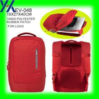 backpack makers - 2015 years durable red d polyester laptop and magazine business backpack bag from xiamen bag maker
