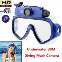 HD 720P Caméra Espion Underwater 30M plongée sous-marine lunettes de lunettes masque intégré Avec caméra cachée Mini DV Video Recorder Caméscope