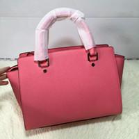 Wholesale MG435 M LARGER SIZE and medium size Selma genuine leather handbag drop shipping