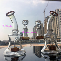 Wholesale Small bubbler glass bongs water pipes mini oil rig manufacture hand smoking pipe with glass bowl