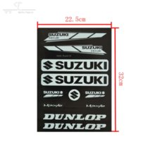 achat en gros de autocollants dirt bike-Stickers 6pcs Stickers pit dirt bike Street Racing Off Road motocross Cross moto scooter ATV pour Suzuki Motorcycle Car Decal